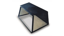 Rectangle Stainless Steel Hinged Fire Pit Screen open