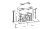Grand Cordova Vented Outdoor Gas Fireplace