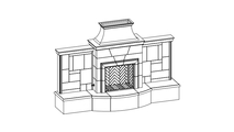 Grand Petite Cordova Vented Outdoor Gas Fireplace