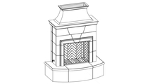 Petite Cordova Vented Outdoor Gas Fireplace