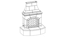 Phoenix Vented Outdoor Gas Fireplace