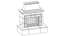 Reduced Cordova Vented Outdoor Gas Fireplace