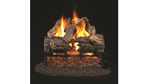 16 Inch RealFyre Burnt Rustic Oak Reduced Depth Vented Gas Log Set