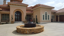 Evolution 360 with custom surround outside a customer's home.