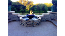 Evolution 360° with custom surround on a customer's patio.