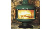Malm Drum Fireplace with Matte Black Base