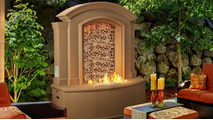 Large Firefalls with Artisan Glass by American Fyre Designs