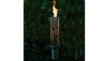 Tropical Stainless Steel Tiki Torch