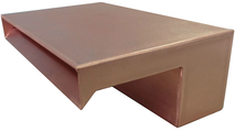 12 Inch Wide Copper Smooth Flow Scupper