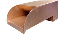 6 Inch Wide Smooth Flow Radius Copper Scupper