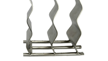 Waves Stainless Steel Fire Pit Burner Ports