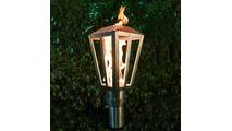 Lantern Style Stainless Steel Tiki Torch