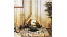 Malm 30 inch zicron wood burning fireplace