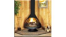 Malm 38 Inch Zircon Wood Burning Fireplace