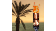 Bamboo tiki torch with vulcan ignition