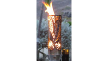 Bird of paradise tiki torch
