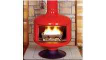 Malm Fire Drum 2 Gas Burning Fireplace 32 Inch