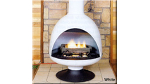 Malm 3 Gas Fire Drum Fireplace 32 Inch