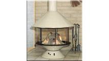 Malm 32 Inch Carousel Gas Fireplace Porcelain Base