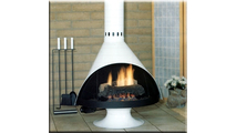 Malm Zircon Gas Burning Fireplace 34 Inch Shown In RAL 9010 Finish