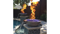 "This customer is extremely happy with two 21"" Glenwood fire and water bowls!"