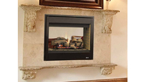Superior DRT3500ST Multi-View Direct Vent Gas Fireplace Close Up