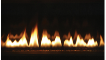 DRL3054 Close up of Flames and Fire Glass