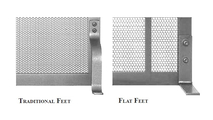 Choose between traditional or flat style feet for your fireplace screen.