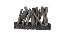 Upright Logs Steel Fire Pit Ornament no flame, lava rock not included