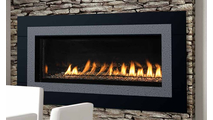 Superior VRL4543 Vent Free Gas Fireplace SHOWN WITH SILVER AGED TRIM