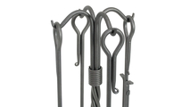 Vintage Steel Traditional Fireplace Tool Set Details