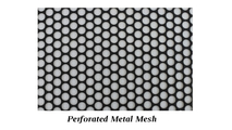 Perforated (punched) metal mesh