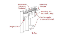 Appalachian All Glass fireplace door mounting diagram