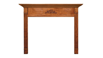 Arden Mantel shown in Oak with a Cordovan Finish.