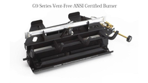 Included G9 burner system with grate