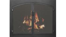 Grande Arch Conversion Flush Fit Fireplace Mesh Doors in matte black