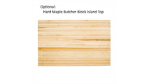 Optional Butcher Block Island Top