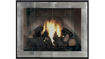 Enjoy the view of the flames through your Original Moderne Masonry Fireplace Door!