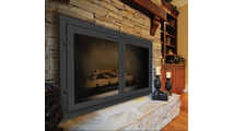 Normandy Eco-Tite Masonry Fireplace Door installed