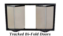 Tracked bi-fold doors