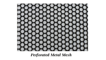 Perforated (punched) metal or woven wire mesh are available for the mesh panel stylePerforated (punched) metal mesh