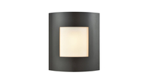 Bella Outdoor Wall Sconce in Oil Rubbed Bronze with White Shade