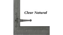 Clear Natural Finish & Strap Hinge Detail