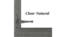 Clear Natural finish and hinge detail