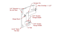 Slotted frame for air flow