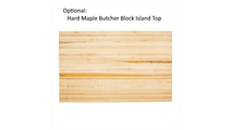 Optional Butcher Block Island Top