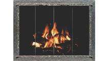 Forged Steel Laramie Zero Clearance Fireplace Door in clear natural finish
