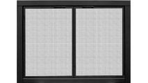 Mesh Zero Clearance Fireplace Door shown in Matte Black