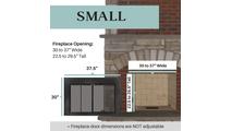Small Ardmore Fireplace Door