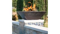 Copper square fire bowl